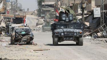 L'armée irakienne progressait à Mossoul, le 17 juin 2017.