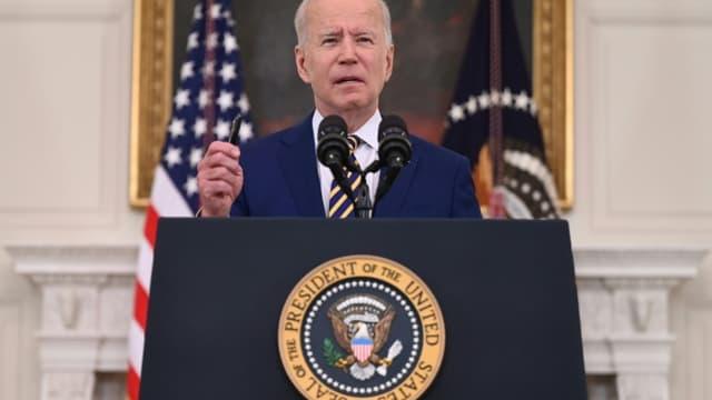 Le président américain Joe Biden s'exprime sur le programme de vaccination contre le Covid-19 à Washington, le 18 juin 2021