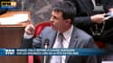 Le ministre de l'Intérieur, Manuel Valls, à l'Assemblée nationale ce mardi.