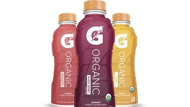 La version bio de Gatorade est commercialisée avec 3 saveurs : fraise, citron et fruits mélangés.