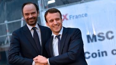 Emmanuel Macron et Edouard Philippe le 1er février 2016.