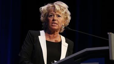Marie-Christine Arnautu, proche de Jean-Marie Le Pen, est candidate à Nice pour le FN.