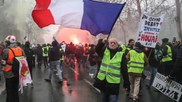 Mobilisation des gilets jaunes à Paris, le 19 janvier (photo d'illustration)