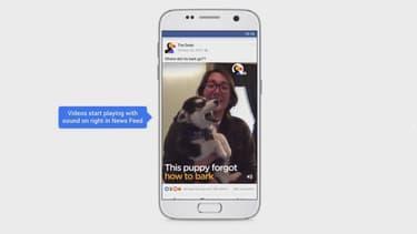 Le son des vidéos sera désormais activé par défaut dans Facebook.