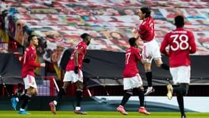 Edinson Cavani avec Manchester United, le 15 avril 2021