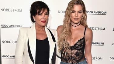 Kris Jenner et Khloe Kardashian en 2016 à Los Angeles