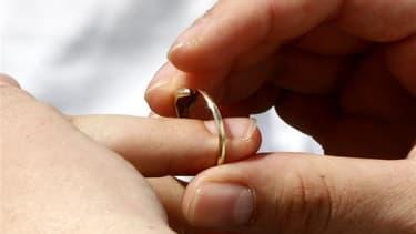 Une loi autorisant le mariage et l'adoption pour les couples de même sexe, promise par François Hollande pendant la campagne présidentielle, sera votée d'ici le premier semestre de 2013. /Photo d'archives/REUTERS/Laszlo Balogh