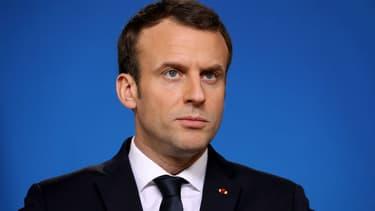 Emmanuel Macron à Bruxelles, le 23 février 2018