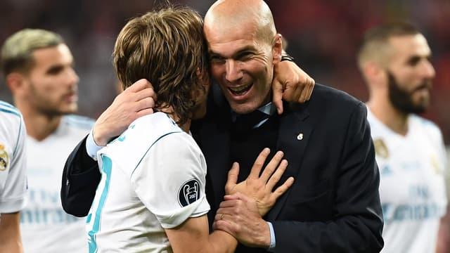 Zinédine Zidane lors de la finale de la Ligue des champions 2018