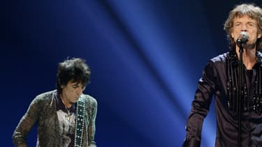 Ronnie Wood, Mick Jagger, Charlie Watts et Keith Richards, le 15 mai 2013