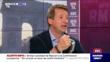 Pour Yannick Jadot, Michel Barnier aurait été un meilleur candidat à la Commission européenne