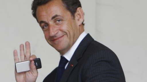 L'ancien chef de l'Etat, Nicolas Sarkozy, à l'Elysée le 8 novembre 2007 (Photo d'illustration)