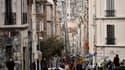 Marseille: deux immeubles du centre en cours de démolition