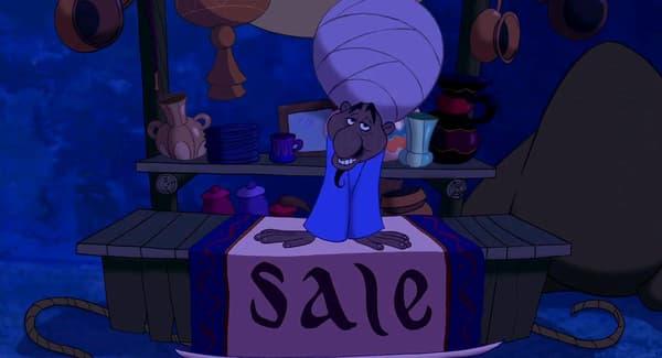 Le vendeur n'est autre que... le Génie
