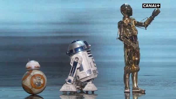 BB-8, RD-D2 et C-3PO aux Oscars 2016