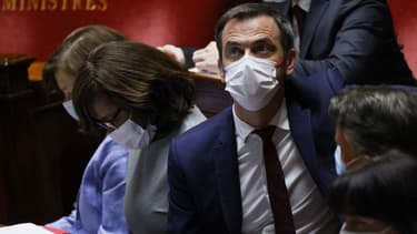 Le ministre de la Santé Olivier Véran à l'Assemblée nationale lors des débats autour du projet de loi sanitaire le 20 juillet 2021.