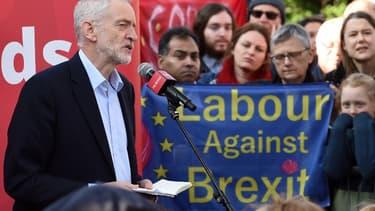 Le leader du Parti travailliste Jeremy Corbyn à un rassemblement en Angleterre le 23 février dernier.