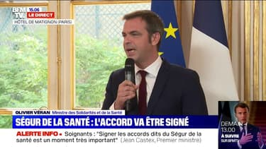 """Olivier Véran : """"Ces accords de Ségur sont historiques par l'ampleur de leur revalorisation"""""""