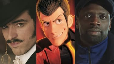 Les 1001 visages de Lupin: Romain Duris, le personnage Lupin III et Omar Sy