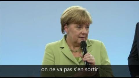 Angela Merkel fait pleurer une jeune réfugiée palestinienne
