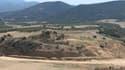 Le site de fouilles de la cité antique d'Amphipolis, dans le Nord de la Grèce, ici le 24 août 2013.
