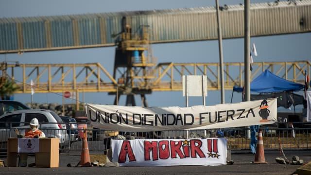 La mine avait connu une grève similaire en 2017