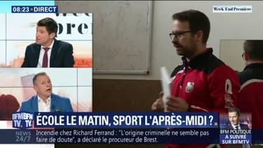 """Sport à l'école: """"On aurait souhaité que le  ministre apporte une plus grande importance à l'éducation physique pour tous les jeunes"""", estime Polo Lemonnier"""