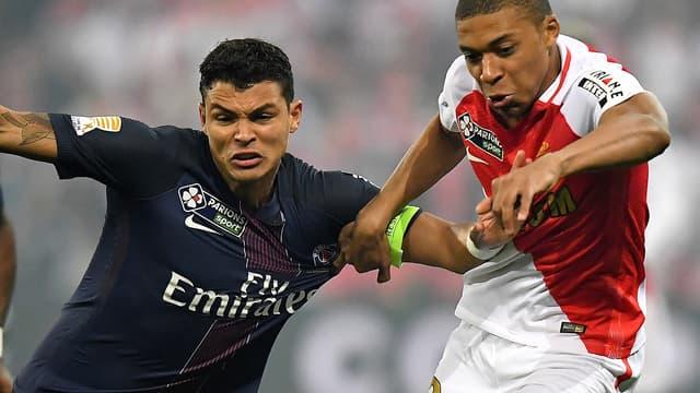 Kylian Mbappé au duel avec Thiago Silva