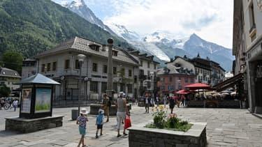 Vacanciers à Chamonix, en Haute-Savoie, en juillet 2019