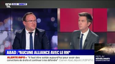 """Damien Abad à propos de Guillaume Peltier: """"On ne veut plus ce genre de dérapage"""""""
