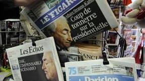 L'arrestation à New York de Dominique Strauss-Kahn gonfle depuis dimanche les audiences des journaux et magazines télévisés et les ventes des journaux en France, dépassant les scores qui avaient suivi la mort d'Oussama ben Laden. /Photo prise le 16 mai 20