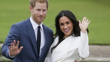 Le prince Harry et Meghan Markle, le 27 novembre 2017, jour de l'annonce de leurs fiançailles.