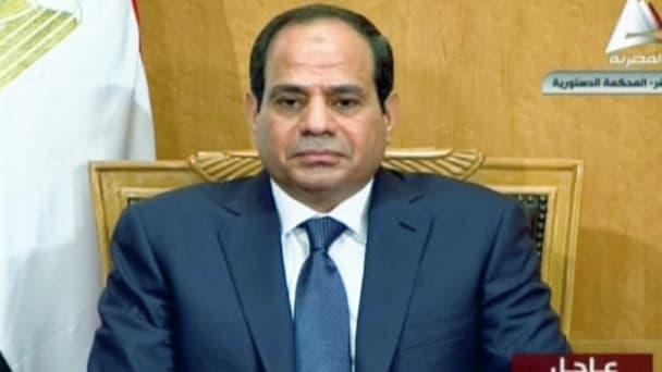 Abdel Fatah al-Sissi a prêté serment face aux juges de la Cour constitutionnelle suprême, dimanche 8 juin.