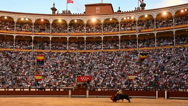 Des spectateurs assistent à une corrida le 15 mai 2019 à Madrid. (Photo d'illustration)