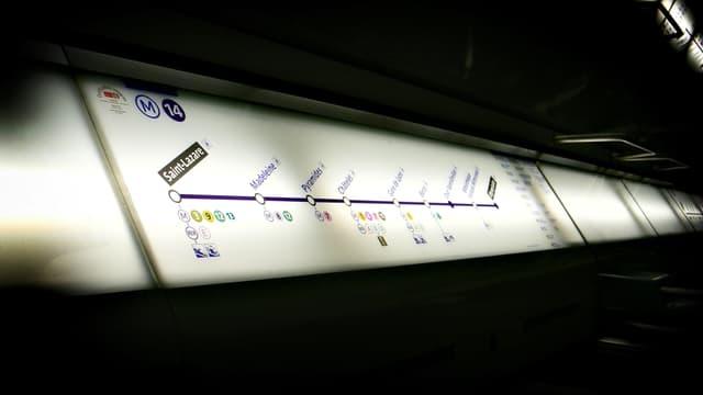La ligne 14 est restée paralysée plusieurs heures mardi soir.