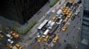 Des taxis jaunes pris dans la circulation, à New York. Il en circule plus de 13.500 dans les rues de la plus grande ville américaine.