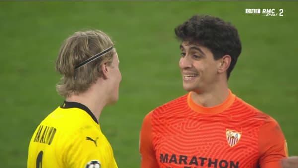 Haaland et Bounou après le match