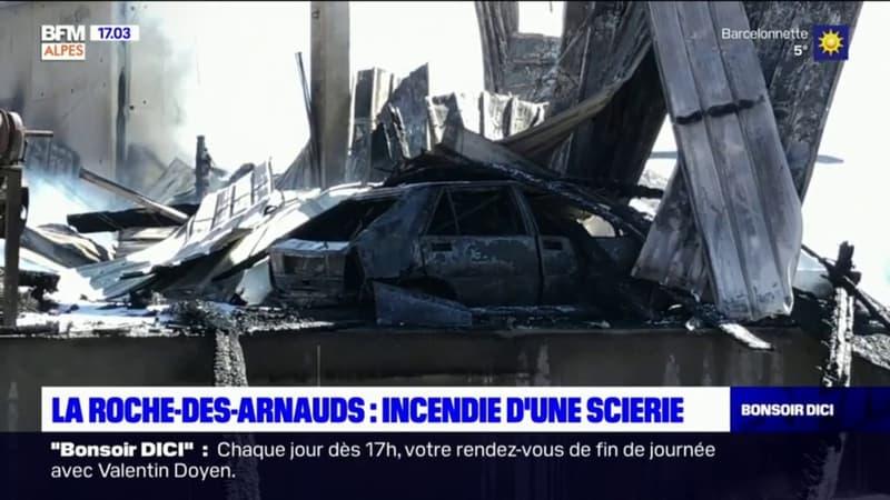 La Roche-des-Arnauds: retour sur l'incendie survenu ce mardi dans une scierie