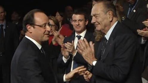 François Hollande et Jacques Chirac.