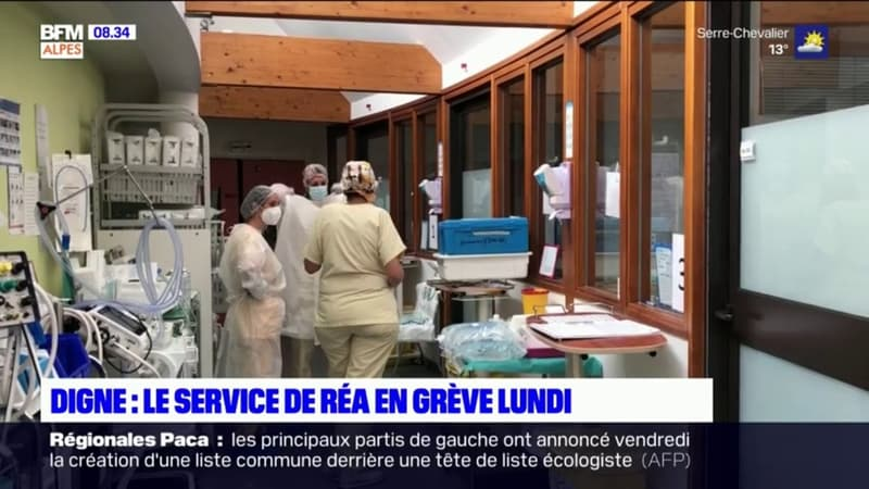 À bout de souffle, le service de réanimation de Digne-les-Bains en grève ce lundi