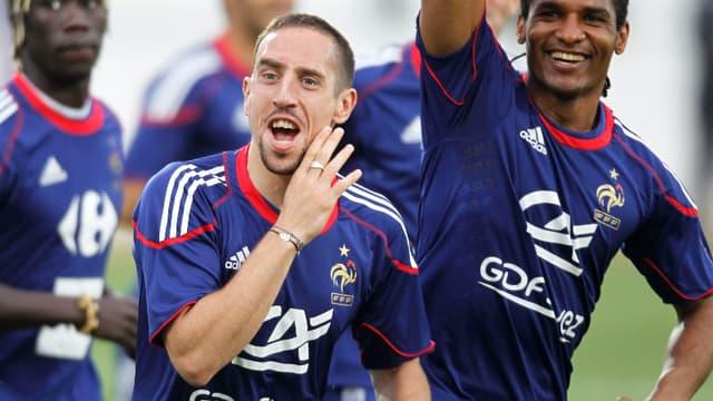 Franck Ribéry et Florent Malouda