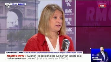 """Pr Karine Lacombe: """"La situation s'améliore (...) mais les services de réanimations sont encore en tension"""""""