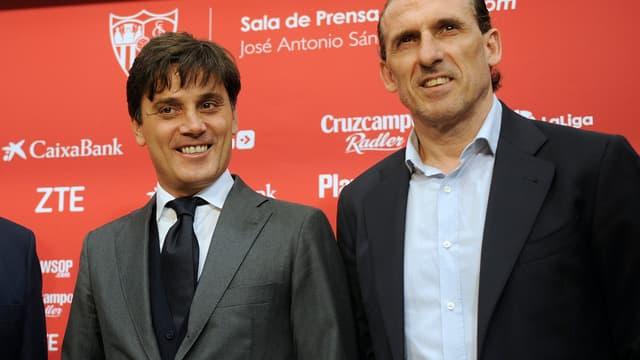 Vincenzo Montella et Oscar Arias