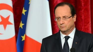 François Hollande, en novembre dernier, recevant alors son homologue tunisien Moncef Marzouki à l'Elysée.