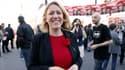 Danielle Simonnet, candidate du Front de gauche à Paris, dimanche avant son meeting.