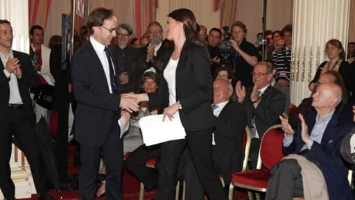 La ministre de la Culture Aurélie Filippetti et le président du CNC Eric Garandeau se sont battus auprès de Bruxelles