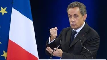 Nicolas Sarkozy, lors de son meeting à Mulhouse, le 19 novembre 2014.