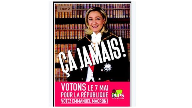 Le Parti socialiste va imprimer 4 millions de tracts en soutien à Emmanuel Macron.