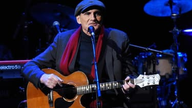 Le chanteur James Taylor en concert à New York le 9 décembre 2016.