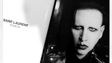 Le provocant Marilyn Manson est la nouvelle égérie de Saint Laurent.